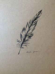 Image result for gray feather tattoo small