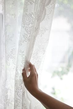 A Beautiful Mess Happy Handmade Home: lace curtains