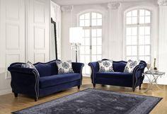 Royal Blue Sofa Set
