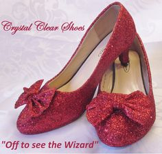 029212cb1ad Red Glitter Shoes Dorothy Shoes Wizard of Oz Shoes
