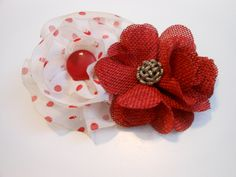 Red and White Polka Dot Vintage Shabby Chic by ShandisScrapsnStuff