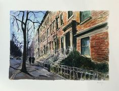 Bob Dylan Brooklyn Heights, 2016 Giclee print on paper. Signed by Bob Dylan, in margin lower right, numbered in margin lower left. Paper size 30 x 23 in x cm RESERVED Edition of 295 Bob Dylan Art, American Songs, Nobel Prize In Literature, Brooklyn Heights, Contemporary Artists, Lovers Art, Paths, Art Gallery, Castle