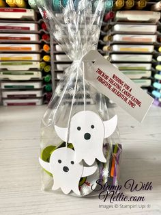 Chocolate Coins, Cellophane Bags, Halloween Ghosts, Treat Bags, Hello Everyone, Free Gifts, Stampin Up, Card Stock, September