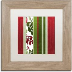 Trademark Fine Art Woodlands Christmas IV Canvas Art by Color Bakery White Matte, Birch Frame, Assorted