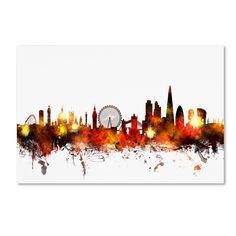 Michael Tompsett 'London England Skyline II' Wall Art