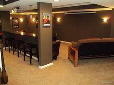 bar between basement supports