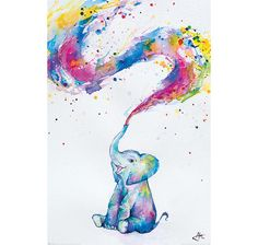Baby Elephant Poster Spring