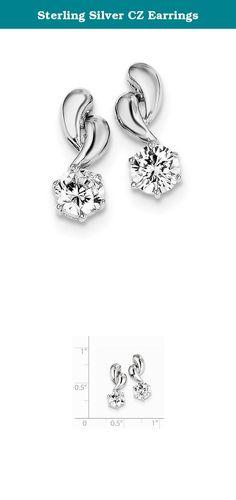 Sterling Silver CZ Earrings. Sterling Silver CZ Earrings.