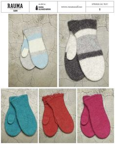 Gratis oppskrift - Rauma Garn Felted Slippers, Wrist Warmers, Knit Mittens, Christmas Knitting, Christmas Stockings, Tatting, Free Pattern, Diy And Crafts, Kids Rugs