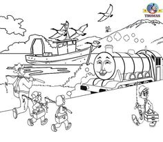 Thomas Tank Engine Coloring Pages - AZ Coloring Pages | Thomas the ...