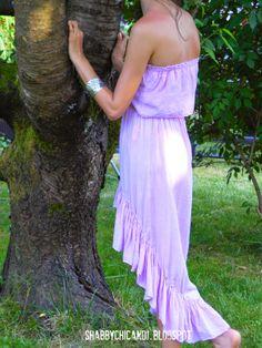 romantisches selbst genähtes Sommerkleid im Bohemian Stil.... Summer Bohemian dress...Self made