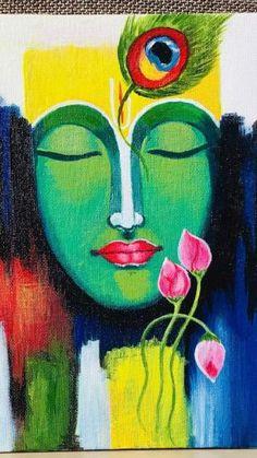 Madhubani Art, Madhubani Painting, Acrylic Portrait Painting, Acrylic Painting Canvas, Indian Art Paintings, Modern Art Paintings, Buddha Painting, Buddha Art, Mandala Drawing