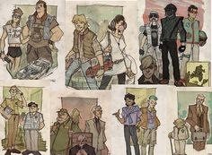Check out this Website for some hilarious Star Wars AU art: http://moviepilot.com/posts/2014/11/21/star-wars-redesigned-now-in-a-decade-far-far-away-2451565?lt_source=external,manual