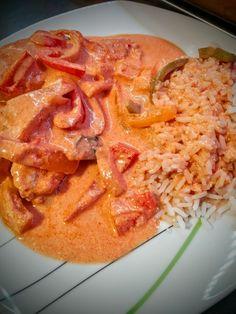 Früher mit Maggifix, heute selbst gemacht: mein liebstes Rezept für Paprika-Sahne-Hähnchen. Nachkochen erwünscht! :)