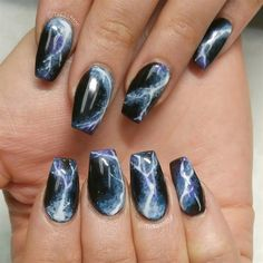Lightning Nails by MisAshton from Nail Art Gallery