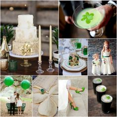 Lucky you! Our St. Patrick's Day wedding inspiration board is here!  #wedding #greenwedding #stpattiesday #stpattiesdaywedding #weddinginspiration