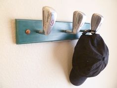 Vintage Titlelst Pro-Tour Golf Club Heads Coat Rack by TheFletcherStudios  on Etsy Vintage Golf 225f9bf4a82d