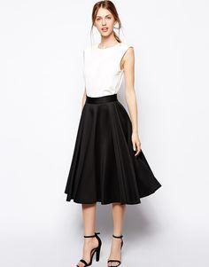 Closet Full Skater Skirt in Scuba on shopstyle.com