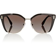 36141077f75d6 Prada Women s Rounded Square Sunglasses ( 390) ❤ liked on Polyvore  featuring accessories