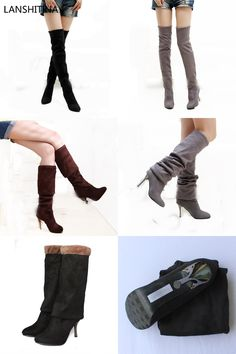 b1a5fedd784 Hot sale fashion long boots for women Nubuck Leather sexy Stovepipe long  boots Over the Knee high heels women boots size 34 43-in Over-the-Knee Boots  from ...