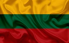 Download wallpapers Lithuanian flag, Lithuania, Europe, silk, flag of Lithuania