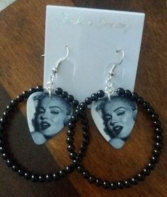 Marilyn earrings by DarkRainbowJewerly on Etsy