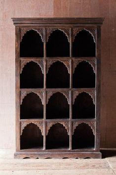 Ornate 12 Cubby Indian Shelf - Bookshelves - Shop Nectar - 1
