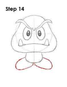 How to Draw Goomba 14