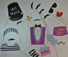 Inspired by the Grand Budapest Hotel..... Mustache Lutz police Lobby Boy Mendel,s cake box.