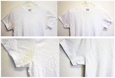 L'eau oxygénée enlève les taches jaunes des vêtements