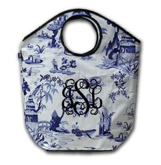 Blue Chinoiserie tote bag by Whitney English