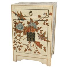 Peaceful Birds End Table