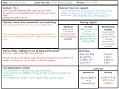 FREE Common Core Planning Sheet for ALL Grade Levels