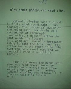 Pass it on if you can read it