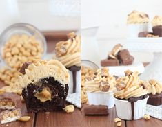 Miss Blueberrymuffin's kitchen: Pinterest made me do it: Snickers Cupcakes