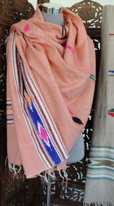 Oversized Merino Wool Scarf - Vintage Textile by VIDA VIDA 6gOqf0