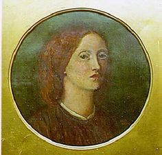 Elizabeth Siddal, Self-portrait, 23 cm in diameter, oil on canvas, 1853-1854 (private collection). Elizabeth Siddal is best known as the wife of Dante Gabriel Rossetti and the model for many of the best-known early Pre-Raphaelite paintings of women. She was also a poet and a painter, with her studies in painting being funded by John Ruskin himself. She painted this pensive self-portrait at the age of 24, 8 years before her death, when her health had already started to deteriorate.