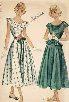 1940s Simplicity 2840 Vintage Sewing Pattern by midvalecottage, $20.00