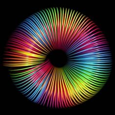 Rainbow slinky effect Rainbow Art, Rainbow Colors, Vivid Colors, Rainbow Images, Vibrant, Taste The Rainbow, Over The Rainbow, Rainbow Things, Illusion Art