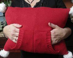 Kammy's Korner: repurposed sweater pillow Make narrower, use instead of sock for rice sock?