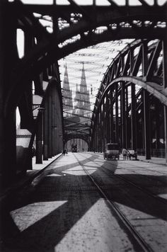 Oskar Barnack  The bridge of cologne with the city's cathedral visible in the background, sometime between 1920-1930