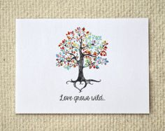 Love Grows Wild / Anniversary or Valentine Card / Customizable DIY Printable Card