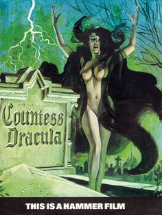Tom Chantrell's pre-production painting for Countess Dracula.