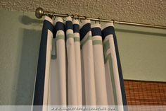 Cheap & Easy Curtain Panels Customized With Paint