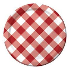 Red \u0026 White Check Paper Luncheon Plates  sc 1 st  Pinterest & Fun Embossed Paper Plates   Our Wild Side   Pinterest