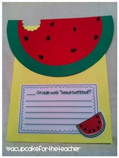 Summer is right around the corner, and so is the end of the school year!  Why not take a bite out of summer with this cute watermelon craftivity