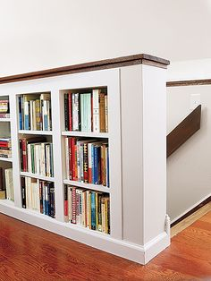 Pictures gallery for modern or classic bookcase & bookshelf ideas to fit any budget or library, from metal, wood freestanding & floating modular, DIY & homemade, to fit small spaces or large living room / firepit area. Attic Bedroom Storage, Attic Bedroom Designs, Attic Bedroom Small, Attic Design, Attic Rooms, Attic Spaces, Loft Design, Angled Bedroom, Design Design