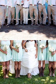 Mint wedding minus the boots