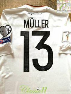 818eab3825d 2017 18 Germany Home Player Issue Football Shirt Müller  13 (M)  BNWT