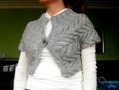 love this handmade knitted shrug